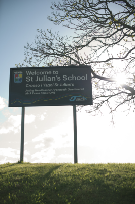 "Welcome to the St Julian's School <span class=""darkGrey"">Career Site</span>"